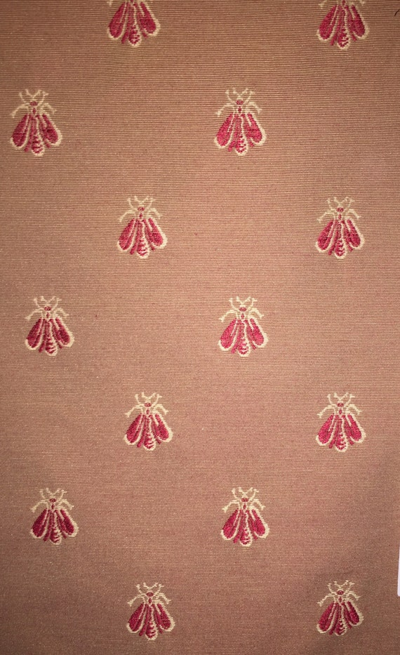 Queen Bee Red Bee Fabric Upholstery Fabric By The Yard