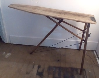 Laundry Room  Farmhouse Decor..A very lovely antique ironing board found tucked away in old  Country House