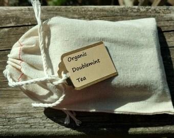 Doublemint Tea, peppermint and spearmint organic loose leaf tea