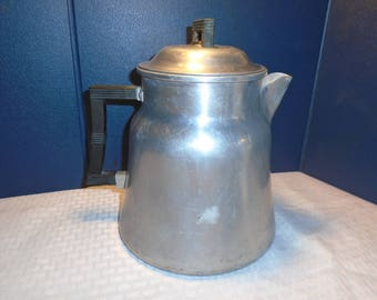 Vintage coffee percolator. Stovetop coffee percolator.  Coffee percolator.  Wear Ever percolator
