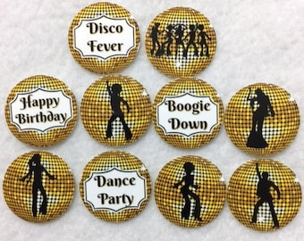 Set of 50/100/150/200 Disco Gold Birthday Party  1 Inch Confetti Circles