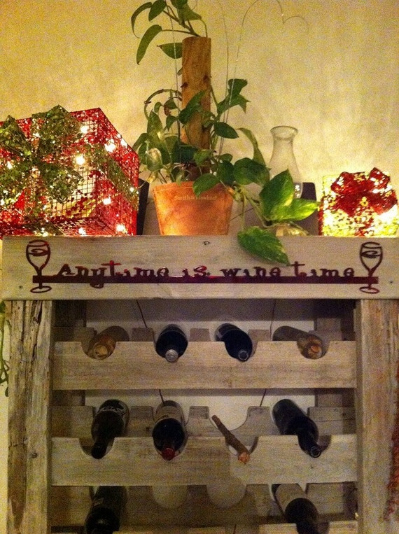 Metal Wine Time Wall Decor, Wine Lover, Gift for Wine Lover, Housewarming Gift