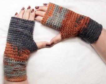 Mittens, Crochet Fingerless Gloves, Mix Fingerless Gloves, Gift For Her, Gift For Christmas,  gift for mom, gift for winter by LoveKnittings