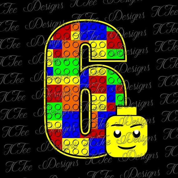 Download Lego 6 6th Birthday Lego Birthday SVG Design Download