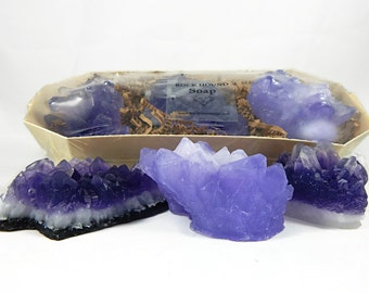 Three Piece Amethyst Soap Set