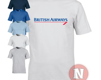 British Airways retro logo t-shirt. Great simple design that really stands out. Ideal for that airline lover.