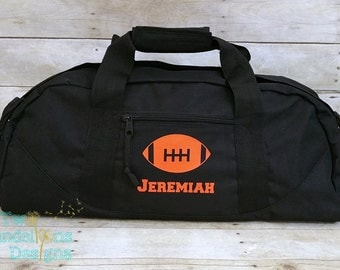 Personalized FOOTBALL LARGE Duffel/Gym  Bag. Football team, football bag, sports bag, duffel bag with long strap.