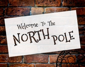 "Word Stencil - Welcome to the North Pole - 13"" X 7"" - SKU:STCL519"