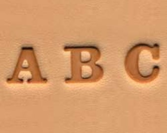 "1/4"" Alphabet Stamp Set for Leather"