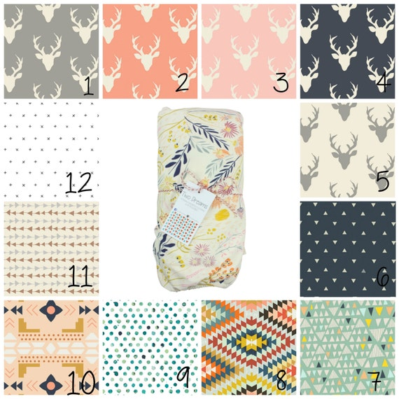 Jersey Knit Crib Sheet Jersey Knit Changing Pad Cover Buck Deer Baby Crib Sheet Contoured Changing Pad Cover Aztec Tribal Triangles PolkaDot