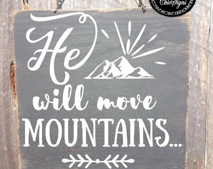 he will move mountains, boys room, boys room decor, boys room art, boys room sign, boys room wall decor, boys room gift