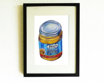 Eric's Peanut Butter Creamy handmade drawing A4 print