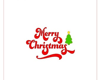 Merry Christmas Greeting Stencil
