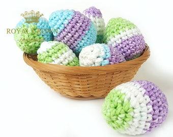 Easter Eggs,Easter Egg Decor,Crochet Easter Eggs,Stuffed Easter Eggs,Easter Egg Toys,Easter Egg Ornaments,Spring Decoration,Hand Crochet Egg