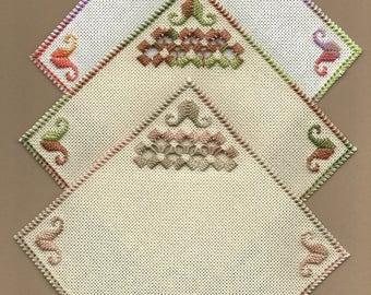 Mug Rugs in Hardanger Embroidery