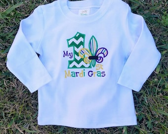 Boys First Mardi Gras - First Mardi Gras Shirt - My First Mardi Gras Shirt - Boys Mardi Gras Shirt - Girls First Mardi Gras