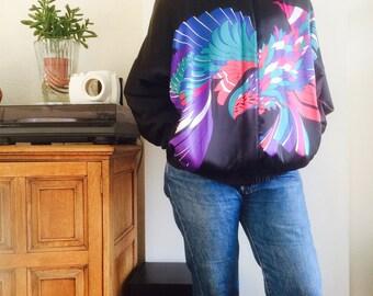 Vintage bomberjasje| vintage bomberjacket| bomberjacke | bombercoat| 80s| 80's vintage| colourful jacket