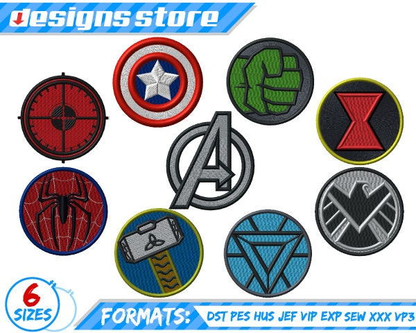 Superhero Machine Embroidery Designs
