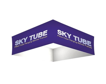 Sky Tube Square Hanging Banners with hardware 8' x 2'