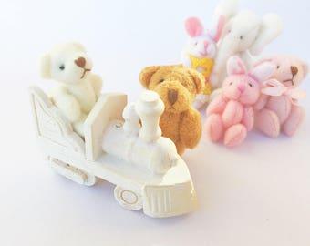 1:12 dollhouse miniature toy train / Nursery train dollhouse / Miniature dollhouse toys scale / Miniature scale one inch train Dollhouse