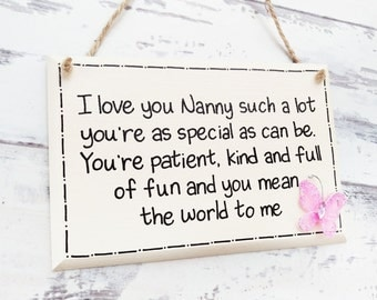 Gift for Nana,Nan birthday gift, Mothers Day gift, Gifts for Nanny, Nanny gifts, Nan gift, Grandma sign, Gift for Grandma