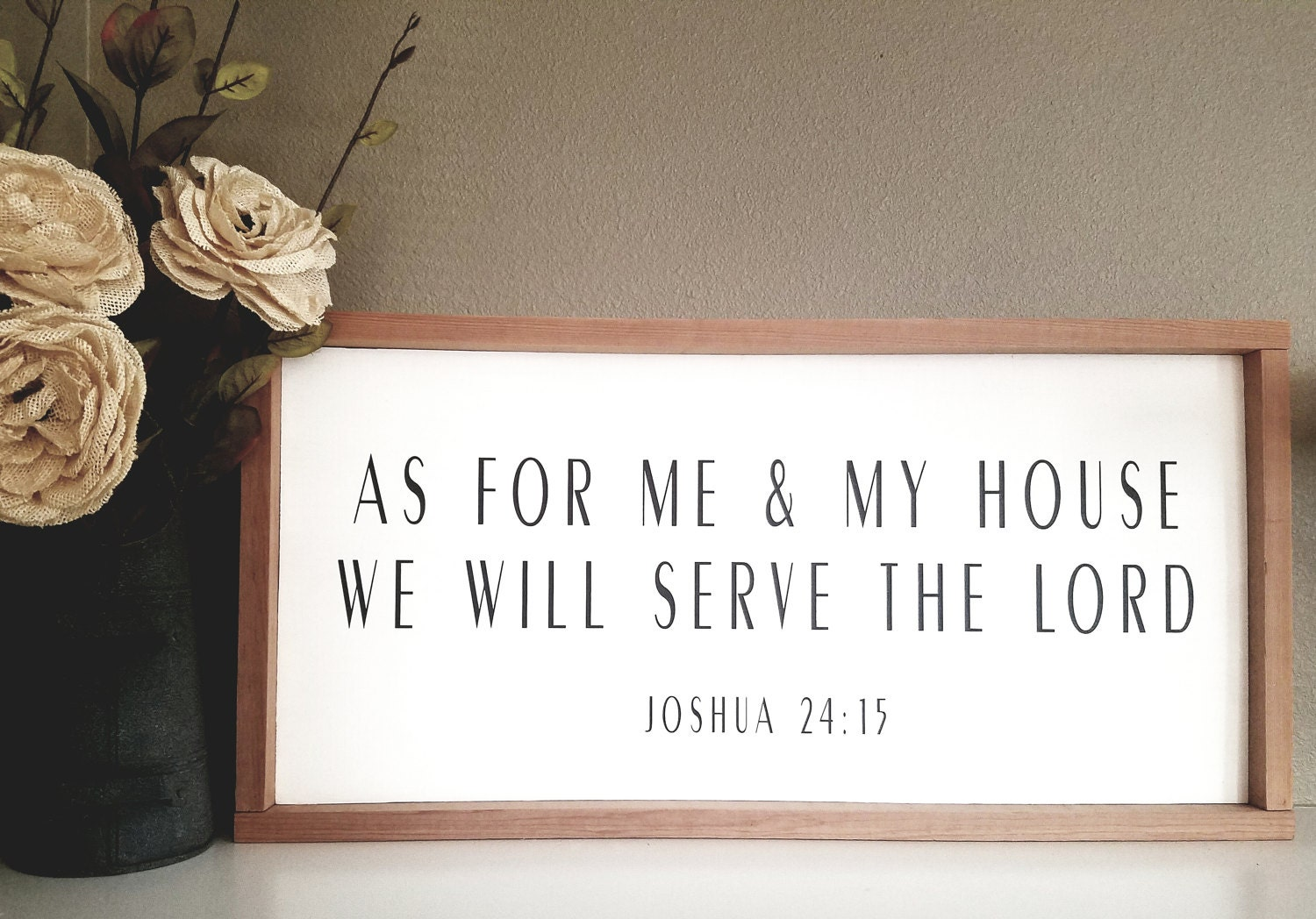 As for me my house wood sign faith bible verse sign wall as for me my house wood sign faith bible verse sign wall amipublicfo Gallery