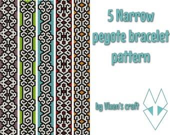 5! Narrow peyote bracelet patterns, odd count peyote pattern, peyote stitch
