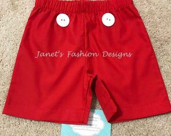 Mickey Mouse Shorts - Disney's Birthday Fashion Outfit - Christmas Disney