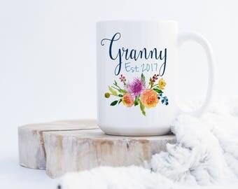 Granny Coffee Mug - Pregnancy Announcement - Birthday Gift