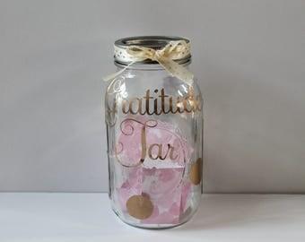 Gratitude Jar • Blessings Jar • Thankful Mason Jar • Family Activity • Memory Keeper • Give Thanks • Jar of Happiness • Positive Vibes