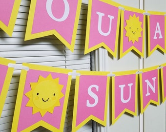 You are my sunshine banner, sunshine centerpiece, you are my sunshine birthday party
