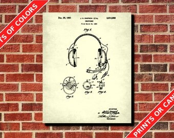 Headphones poster | Etsy