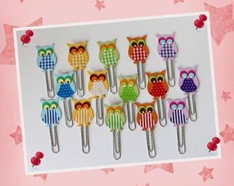 "15 Staples - bookmark ""OWL"""