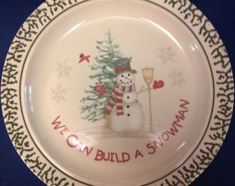 We Can Build a Snowman Serving Plate