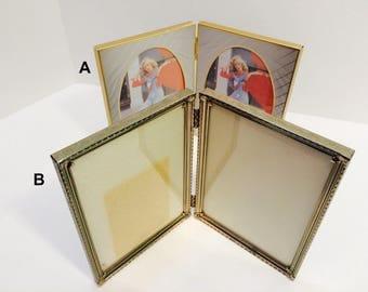 Vintage 5x7 Double Gold Toned Frame Detailing Victorian Style Romantic Decor Hippie Boho Decoration Antique frames