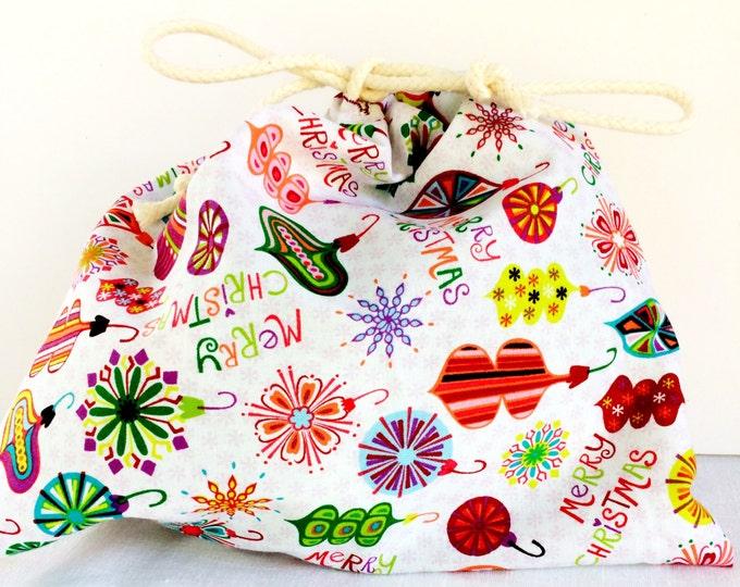 Santa sack - Christmas gift bag - Unique gift bag - Christmas