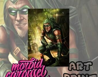 Green Arrow A3 Giclee Art Print