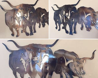 Texas Longhorns Metal Wall Art Decor