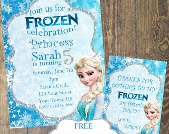 Frozen invitation etsy frozen birthday invitation frozen invitation frozen birthday party custom digital invitation stopboris Image collections