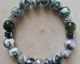 Fancy Jasper Gemstone Bracelet