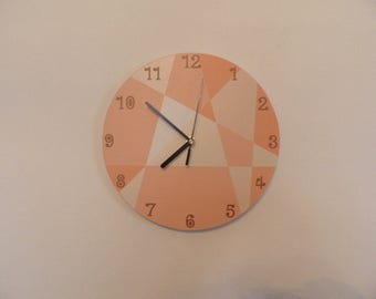 Coloured triangles pastel in colours wall clock.  modern wall clock retro wall clock plastic wall clock nurcery decor