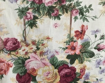Reserved Large vintage fabric piece by Dormer . Country diary of an edwardian lady