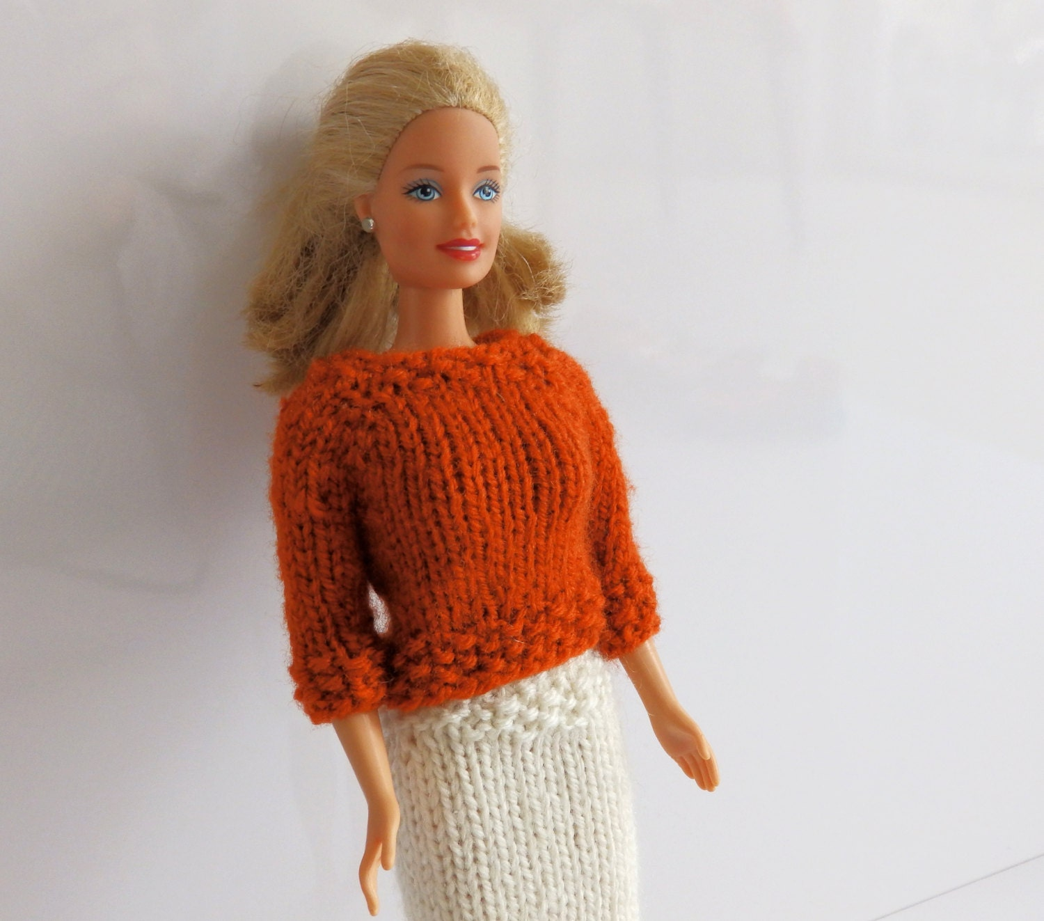 Knitting Pattern PDF Barbie Look, Coral Reef Barbie Outfit, Barbie skirt and ...