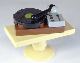 Retro Record Player Custom printed onto LEGO (Minifig scale)