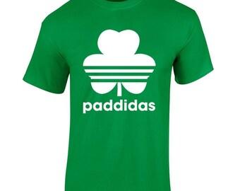 St Patricks Day Paddidas Fun Shamrock 3 Leaf Clover Irish Catholic Mens T Shirt