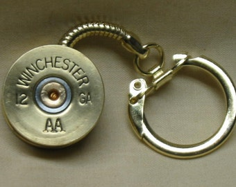 Keychain Shotgun Shell Winchester 12 Gauge Brass Mens Key Chain