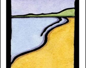 Beach - Single Blank Sarah Angst Greeting Card - Just For Fun