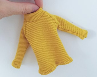 Blythe vintage knitted sleeve (yellow)