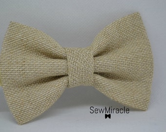 Hessian bow tie - Men's bow tie - Child bow tie - Baby bow tie - Burlap bow tie - Wedding - Rustic - Gift for him - Handmade