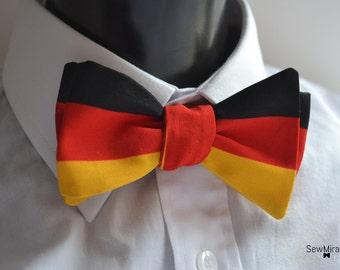 Mens German Flag bow tie - Self-tie bow tie -Gift for Men - Gift for Him - German Flag - Patriotic Bow tie - Secret santa